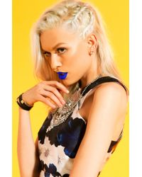 AKIRA - Metallic Strappy Magnetic Black Studded Bracelet - Lyst