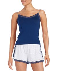 Joe's Jeans | Blue Lace-trimmed Camisole | Lyst