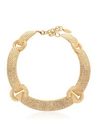 Giuseppe Zanotti | Metallic Gold Plated Necklace | Lyst