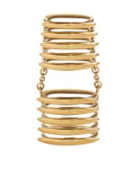 Shaun Leane | Metallic Silver And Gold Vermeil Long Finger Quill Ring | Lyst