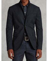 John Varvatos | Blue Peak Lapel Pinstripe Jacket for Men | Lyst