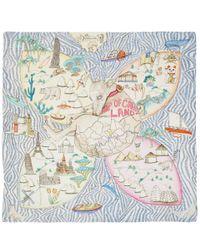 Swash London - Multicolor Multicolour Candy Land Print Silk Scarf - Lyst