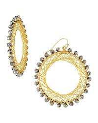 Nakamol | Metallic Beaded Spiral-wire Earrings | Lyst