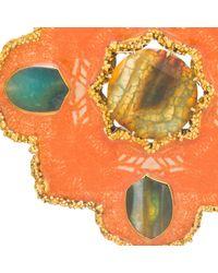 Tilayo - Multicolor Orange Medallion Necklace - Lyst