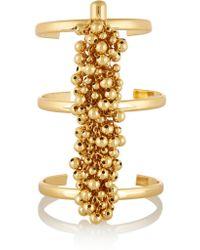 Paula Mendoza - Metallic Fishbone Of Grapes Gold-plated Cuff - Lyst