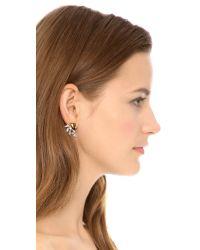 Ben-Amun - Metallic Cascading Crystal Earrings - Clear/Gold - Lyst