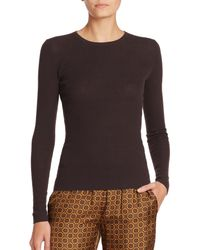 Michael Kors - Brown Featherweight Ribbed Cashmere Sweater - Lyst