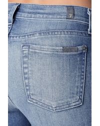 """7 For All Mankind - Blue The Ankle Skinny In Striking Light Indigo 2 (28"""" Inseam) - Lyst"""