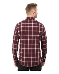 Calvin Klein Jeans - Red Ombre Plaid Shirt for Men - Lyst