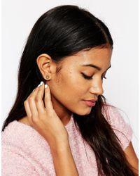 Bill Skinner - Metallic Hexagon Stud Earrings - Lyst