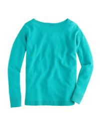 J.Crew - Green Collection Cashmere Textured-frame Sweater - Lyst