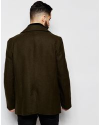Gloverall - Green Peacoat In Wool for Men - Lyst