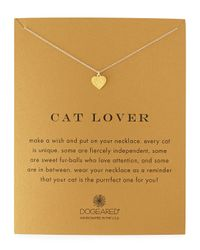 Dogeared | Metallic Cat Lover Gold-dipped Pendant Necklace | Lyst