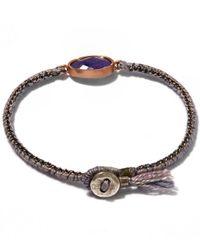 Brooke Gregson - Blue Gold Orbit Rose Tanzanite Silk Bracelet - Lyst