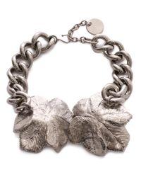 Alexander McQueen | Metallic Flower Choker | Lyst