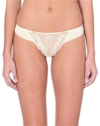 Heidi Klum Intimates | Natural Amelie Lace Thong | Lyst
