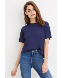 Forever 21 | Blue Classic Boxy Tee | Lyst