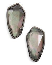 Kendra Scott - Multicolor 'camryn' Mother-of-pearl Stud Earrings - Lyst