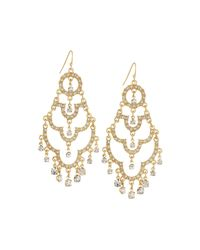 Fragments | Metallic Pavé Crystal Chandelier Earrings | Lyst