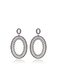 Bochic - Blue Diamond and Sapphire Earrings - Lyst