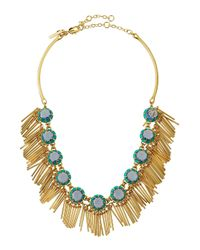 Lele Sadoughi | Blue Crystal Fringe Necklace | Lyst