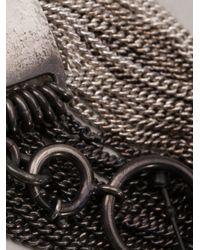 Ann Demeulemeester - Metallic Id Bracelet - Lyst