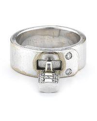 Hermès - Metallic Pre-owned 18kw Ring - Lyst