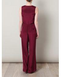 3.1 Phillip Lim - Purple Embellished Silk-crepe Jumpsuit - Lyst