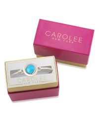 Carolee | Word Play Something Blue Glitz And Silvertone Bangle Bracelet | Lyst