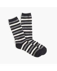 J.Crew | Blue Medium-striped Socks for Men | Lyst