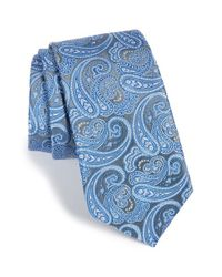 Calibrate - Blue Paisley Silk Tie for Men - Lyst