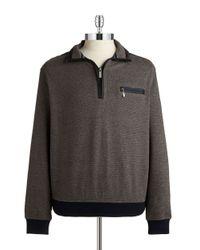 Bugatti   Brown Quarter-zip Sweater for Men   Lyst