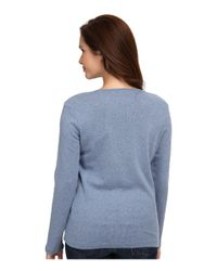 Pendleton | Blue Petite L/s Jewel Neck Cotton Rib Tee | Lyst