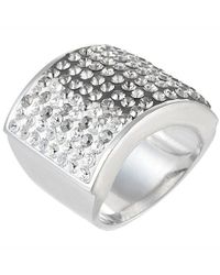 Jan Leslie | Gray Square Crystal Ombre Bling Ring | Lyst