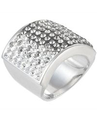 Jan Leslie - Gray Square Crystal Ombre Bling Ring - Lyst