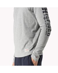 Tommy Hilfiger | Gray Cotton Jersey Crew Neck Shirt for Men | Lyst