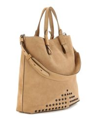 Tod's | Brown Gommino Embellished Suede Shopper | Lyst