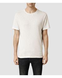 AllSaints - White Biedra Crew T-shirt for Men - Lyst