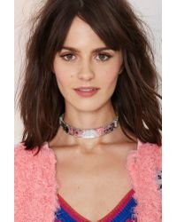 Nasty Gal | Metallic I Still Love You Nyc Shattered Choker | Lyst