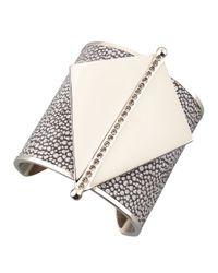 Paige Novick | Metallic Maud Stingray Leather & Metal Cuff - Silver | Lyst
