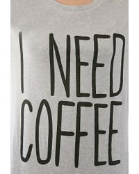 Forever 21 - Gray I Need Coffee Nightdress - Lyst
