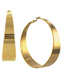 Vince Camuto | Metallic Gold-tone Tapered Hoop Earrings | Lyst