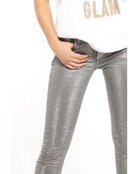 Liu Jo | Gray Skinny Regular Waist Bottom-up Trousers | Lyst