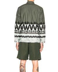 Sacai - Green Shirt Jacket - Lyst