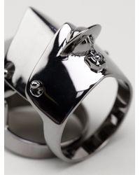 Vivienne Westwood - Metallic Armor Ring - Lyst
