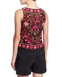 Naeem Khan - Sleeveless Thread-embroidered Top - Lyst