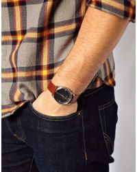 Nixon | Mellor Watch with Brown Leather Strap A129 for Men | Lyst