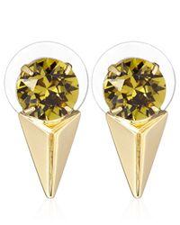 Joomi Lim | Green Crystal Pyramid Vicious Love Earrings | Lyst