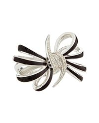 Stephen Webster - Metallic Fourloop Burgundy Diamond Bow Ring Size 7 - Lyst