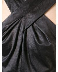 KENZO | Black Cross Front Dress | Lyst